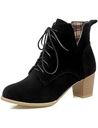 AdeeSu - Botas de nieve mujer , color negro, talla 1 UK