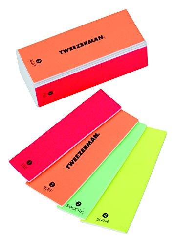 Tweezerman Neon Hot Datei, Buff, glatte und Glanz Block -