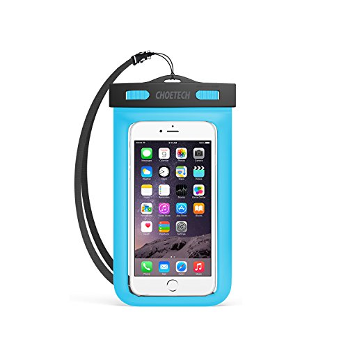 Custodia Impermeabile Smartphone Choetech® [15 Cm / 6 Pollici] Busta Cellulare Impermeabile Universale per iPhone SE / 6s / 6s Plus, Samsung S7 / S7 edge / S6 / S6 Edge, Huawei, HTC, Nexus ed altri Smartphone - Blu