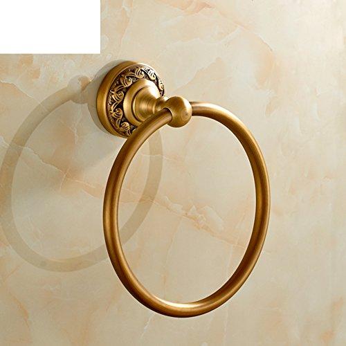 Bronzo anello di tovagliolo Fiore completa/asciugamano anello Continental antico/cremagliera anello di tovagliolo