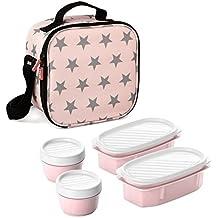 TATAY Urban Food Stars - Bolsa térmica porta alimentos con herméticos incluidos (10 x 22.5 x 22 cm)