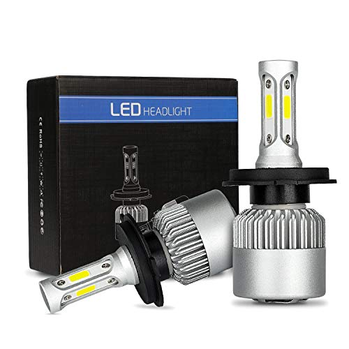 Lampadine h4 led Bulb 6500K 8000lm 72W H/L fari abbaglianti o anabaglianti per auto lampadine ad alte prestazioni,doppio fascio LED-migliore vibilità delle classiche lampadine alogene e xenon (h4)