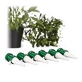 Relaxdays Bewässerungssystem Zimmerpflanzen, 6er Set, automatische Bewässerung Pflanzen u. Blumen, Pflanzenbewässerung