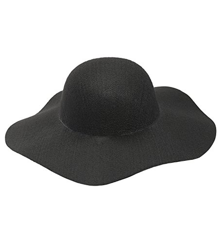 Widmann Srl Hut Schwarz Filz Einheitsgröße für Damen, Calotte und Kopfbedeckung für Erwachsene, mehrfarbig, WDM68580 -