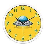Shengdasm Kinderzimmer Wanduhr für Kinder/Stummschaltung der Schlafzimmeruhr/Klassenzimmerwanddiagramme (Color : E, Größe : 14inch)