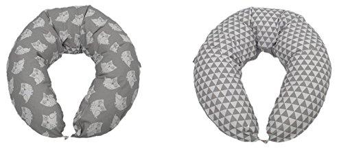 Still kissen in Grau mit Eulen Motiv und mit Dreiecke