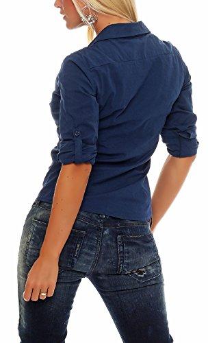 Malito Damen Bluse Klassisch | Tunika mit ¾ Armen | Blusenshirt Auch Langarm Tragbar | Elegant