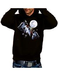 THREE WOLF MOON - Sweatshirt mit Kapuze - Hoodie S M L XL XXL XXXL