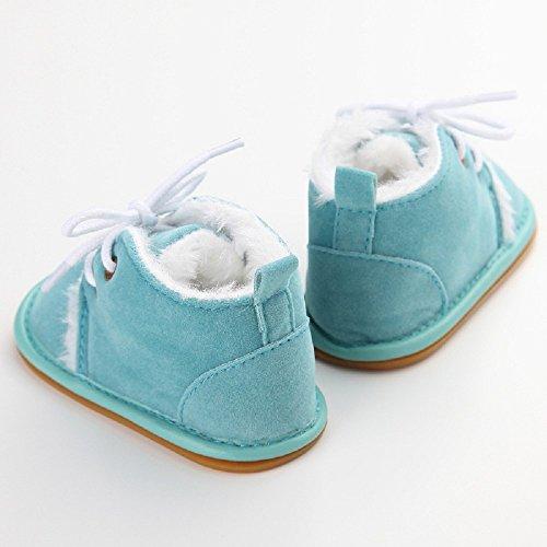 Baby Winter Warme Schuhe, Auxma Kleinkind Säuglings Schnee Stiefel Schuhe Prewalker Krippe Schuhe Krabbelschuhe (11(0-6M), Braun) Himmelblau