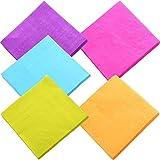 duckmall Getränk Papier Colorful Servietten Cocktail Serviette 2-lagig für Küche, Partys, Hochzeiten, Abendessen oder Events | gemischt Farbe (100Stück)