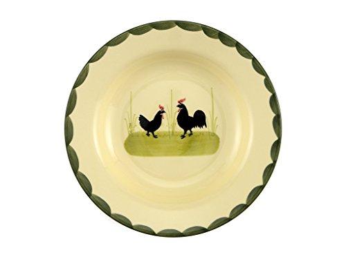 Zeller Keramik Suppenteller Hahn und Henne 21cm