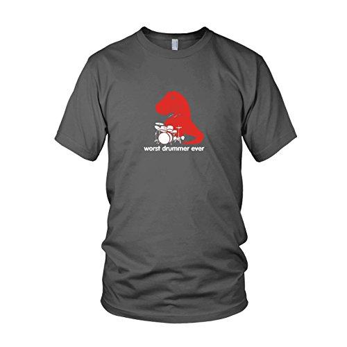 Worst Drummer Ever - Herren T-Shirt, Größe: L, Farbe: (Große Kostüm Rex T)