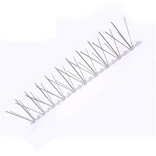 Vogel Repeller 6PCS 50cm Anti Vogel Thorn, Qualitäts Kunststoff Basis Edelstahl Draht Anti Vogel Insekt Plage Scare Steuerung Geeignet für Dächer, Patios -