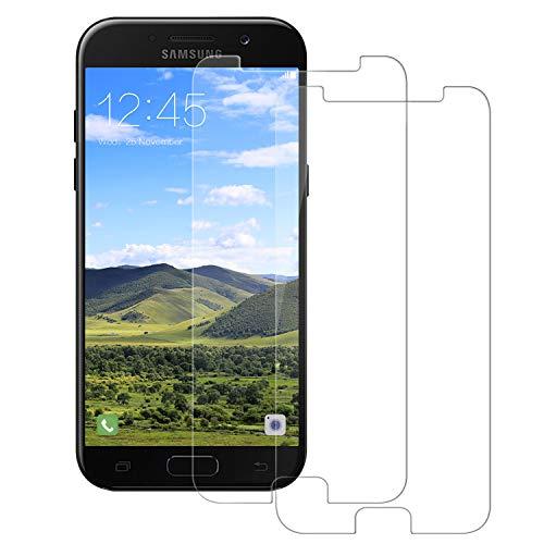 Snnisttek Panzerglas Schutzfolie für Galaxy A5 2017 -[2 Stück] Panzerglasfolie Galaxy A5 2017-9H Härte Bildschirmschutzfolie, Ultra Kristallklar 99% Transparenz-Schutz vor Kratzen, Öl, Bläschen
