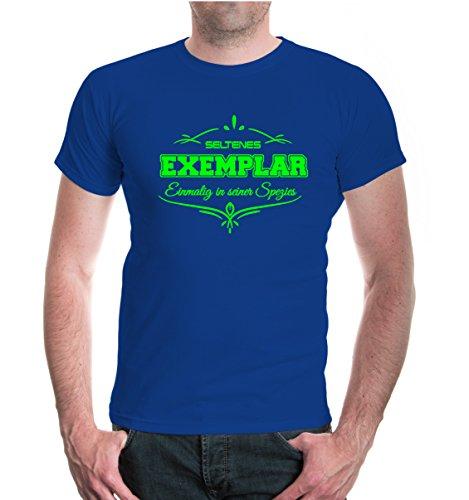 buXsbaum® T-Shirt Seltenes Exemplar Royal-Neongreen