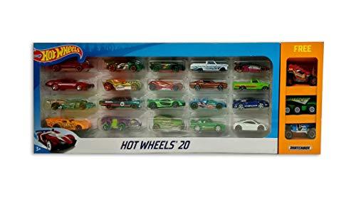 Hot Wheels Promo Pack (20 car Pack + Free 3 Matchbox Cars)