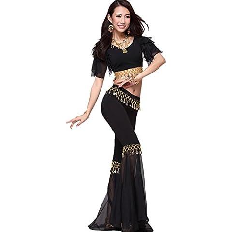 Dancewear Danza del vientre Traje Tribal Cion Short Sleeves Top+Fish Tail Pants