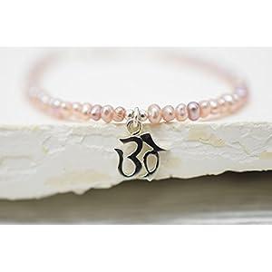 925er Silber Süsswasserperlen-Armband OM