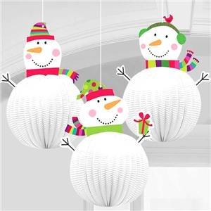 3D Hängedeko–20cm Weihnachtsschmuck (Pack von (Candy Cane Hut)