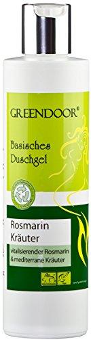 Greendoor Basisches Duschgel Rosmarin 250ml, 4,2 Sterne, biologisch abbaubar, Natur für Ihre Haut aus der Naturkosmetik Manufaktur, ohne Silikone Sulfate Konservierungsmittel Parabene = parabenfrei -