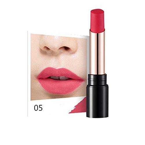 LHWY Crema Hidratante de Larga Duracion Impermeable Matte Lipstick Makeup Glossy Lipgloss