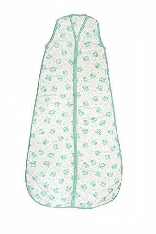 Schlummersack Baby Musselin Sommerschlafsack 0.5 Tog - Mint Eulen - 12-36 Monate/110 cm (Hello Kitty Hochstuhl)