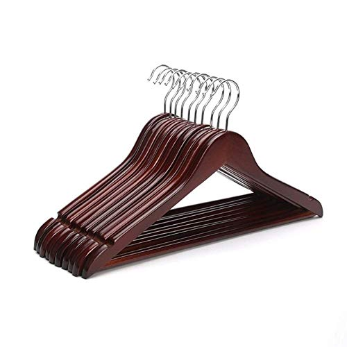 GWFVA Rotes Mahagoni Holz 17-Zoll-Anzug Kleiderbügel, Burgunder Kleiderbügel (6 Teile/Los) -