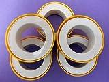 #4: Plumber Teflon Tape (Pack of 5) for pipe fittings,Aquarium,Washing Machine,Water Tap to fix water leak - 5Pcs.