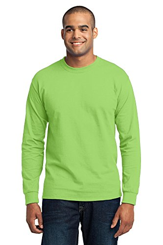 Port & Company® Tall Long Sleeve Core Blend Tee. PC55LST Lime 2XLT (Long Tee Tall Sleeve)