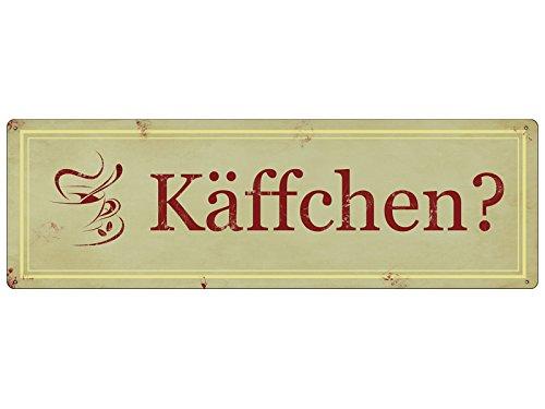 METALLSCHILD Shabby Vintage Blechschild KÄFFCHEN? Küche Kaffee Café Deko Geschenk