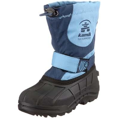 Kamik NK8165 Winterland, Unisex - Kinder Stiefel, Blau (SLATE), EU 27, (US 10)