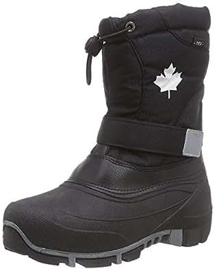 INDIGO Canadians Winterstiefel wasserdicht(*1) Klettverschluß 7 Farben Gr.24-42 schwarz EUR 24