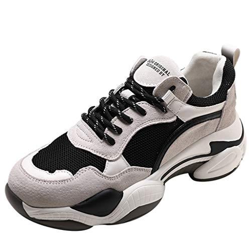 Sneakers Donna Scarpe Sportive Donna Mesh Traspirante Casual con Suola Spessa Scarpe da Ginnastica Basse Donna Sneakers Running Invernali Sneakers Donna Scarpe Eleganti Donna