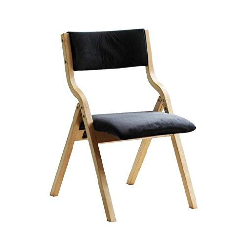 Klappstuhl Sessel aus Massivem Holz Stoff Esszimmerstuhl Computerstuhl Konferenzstuhl...