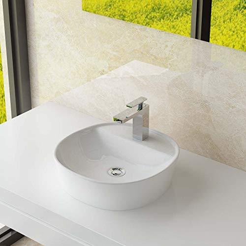 Waschbecken24 DESIGN KERAMIK AUFSATZWASCHBECKEN WASCHSCHALE HANDWASCHBECKEN GÄSTE WC TOP A297