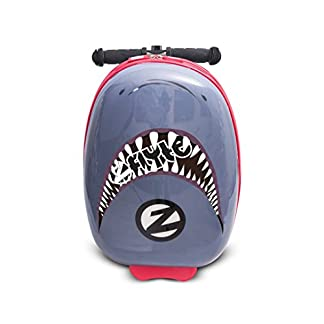 Zinc-Flyte-Jungen-Shark-Case-schnappen-Sie-den-Hai-Flyte-Scooter-grau-Carry-On