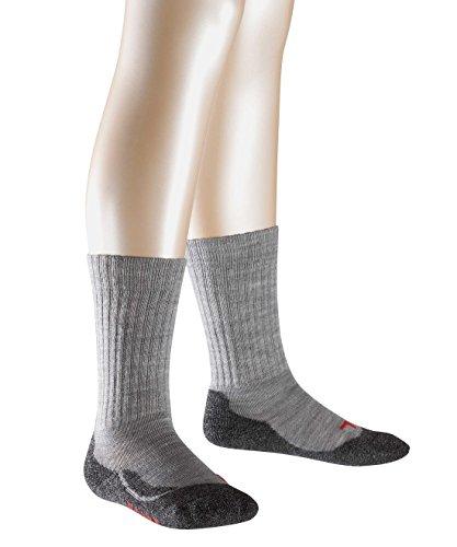 falke socken kinder FALKE Jungen Socken Active Warm, Einfarbig, Gr. 27 (Herstellergröße: 27-30), Grau (Middel Grey Meliert 3530)
