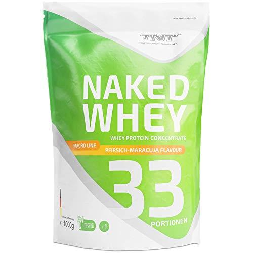 Whey Protein Pulver - Eiweißpulver aus Molke - Proteinpulver mit Laktase - Eiweiß-Shake / 1kgPFIRSICH-MARACUJA