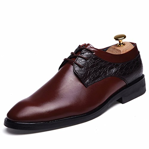 Men's High Quality Creepers Leather Oxfords Shoes 216 red wine