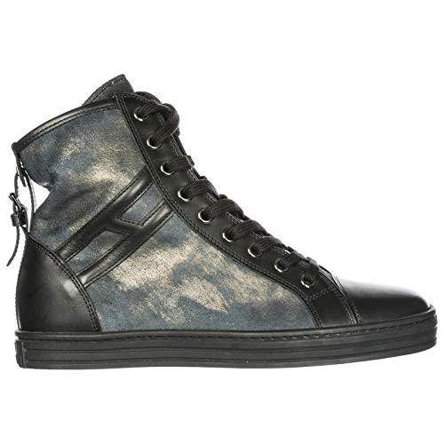 Hogan Rebel Sneakers Alte R182 Donna Nero 36 EU 11168d2171e
