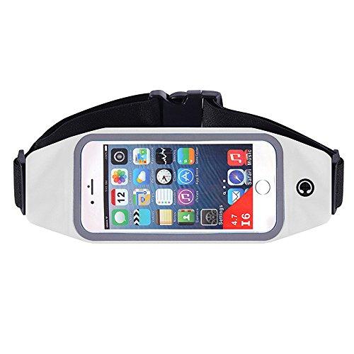 ChenBing Lauftasche mit elastischem Bund Running Belt mit Einem Kopfhörer Loch und EIN Sweat Bag Fenster kann den Bildschirm des Running Belt berühren Atmungsaktive Radtasche