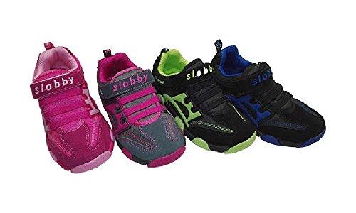 Slobby Kinder Sportschuhe 23 24 25 26 27 28 pink-fuchsia grau-pink schwarz-blau schwarz-grün Pink-Fuchsia