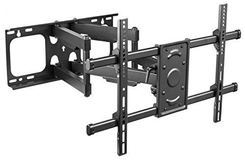 RICOO TV Wandhalterung S4964 Universal für 37-70 Zoll (ca. 94-178cm) Schwenkbar Neigbar Aufhängung Fernseh Halterung auch für Curved LCD Fernseher Wand Halter | VESA 300x200 600x400 | Schwarz -