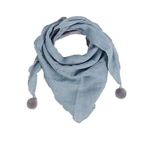 Sciarpa bambini invernali,moda caldi accessori per bambini ragazzi ragazze bambini sciarpe collo sciarpe o scialle sciarpa triangolo medio spesso di colore solido casuale (taglia unica, f)