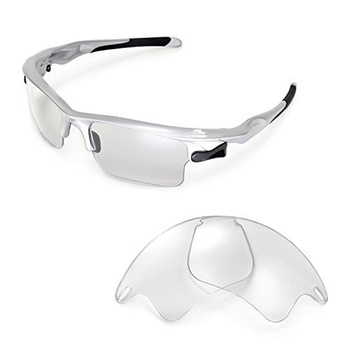 Walleva Replacement Lenses for Oakley Fast Jacket XL Sunglasses -Multiple Options Available (Clear)