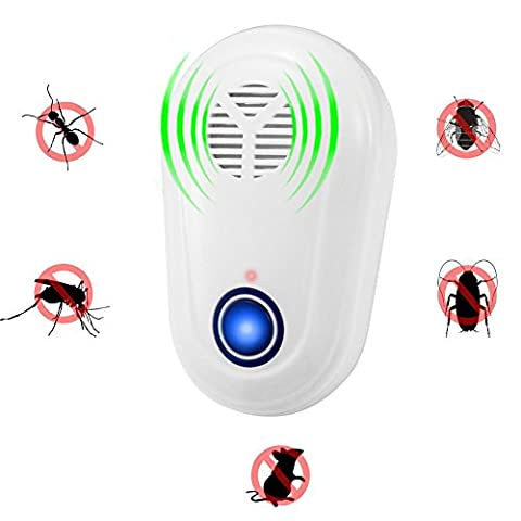 KDLD Pest Control - Electronic Plug In Ultrasonic Pest Repeller Repellent for Ants, Bugs, Mosquitoes,Rodents,Flies,Roaches, Spiders, Mice, Rats Environment-friendly, Humans & Pets Safe with Night Light 5p