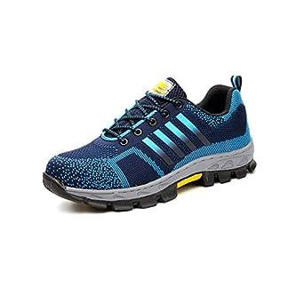 Aizeroth-UK Unisex Hombre Zapatillas de Seguridad con Punta de Acero Antideslizante S3 Zapatos de Trabajo Comodas Calzado de Trabajo Deportivos Botas de Protección Industria Construcción