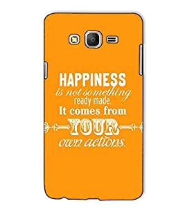 Fuson Designer Back Case Cover for Samsung Galaxy On5 (2015) :: Samsung Galaxy On 5 G500Fy (2015) (Happiness Is Not Something Theme)