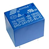 Miniatur Print Relais 24V 1-Wechsler 1xUM 10A/250V Songle SRD-24VDC-SL-C