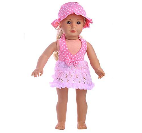 Koojawind Puppenkleider Outfits FüR 18 Zoll New Born Baby Dolls Und FüR 18 Zoll EntzüCkende Puppe MäDchen, Baby Dolls Kleidung Pink Dress - 18 Zoll Dolls Dress Suit (New Born Kostüme)